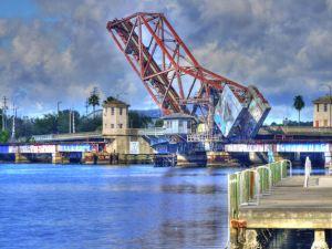 Downtown Tampa Bridge near Performing Arts Center