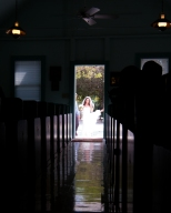 and at the door appears the bride . . .