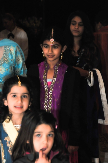 The Brides young cousins lead the Dholki procession