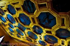 Tiled artwork on ceilings