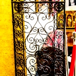 the wrought Iron cafe doors