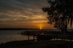Image taken by Marylia (Mo) Garcia of Pixlexia Photography. D700, 28-200 mm, auto iso, manual mode, lightroo adjustments applied. Winter Solstice Sunrise over Lake Agnes, Polk City, FL @ 7:20 a.m.
