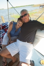 Susie snuggling Joe
