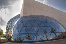 Dome Exterior is a glass chrysalis! Dali seemed to have thing for butterflies.