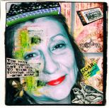 Thi is probably one of my favorites and it is truly my style. It is a self portrait collage inspiration card I made.