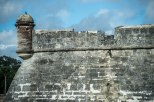 Battered wall of the fort