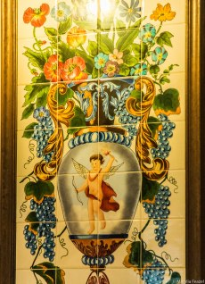Cupid Mosaic Tile Art at the Columbia Restaurant