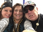 A motley trio