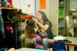 Alyssa working on Olive